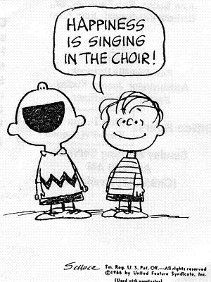 cartoon choir singing